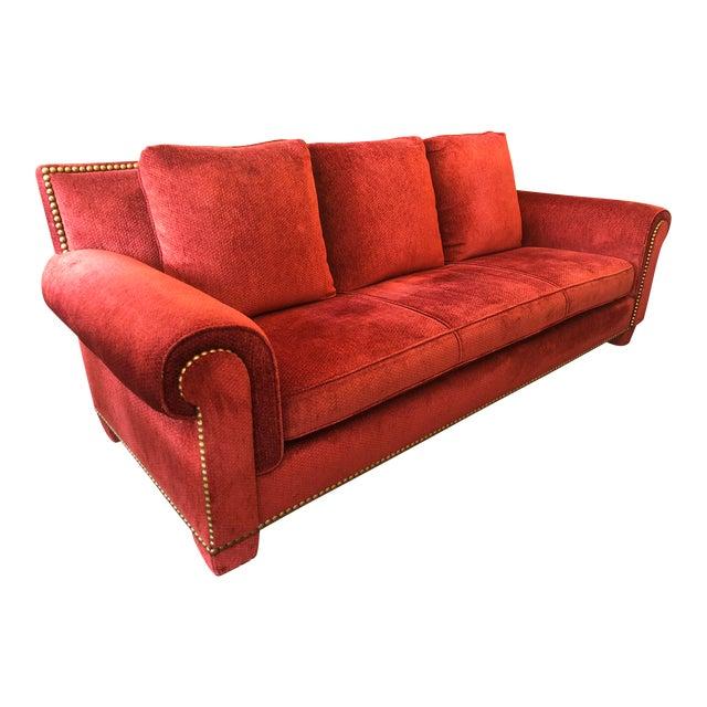 Traditional Randolph & Hein for Marco Fine Furniture Custom Red Sofa