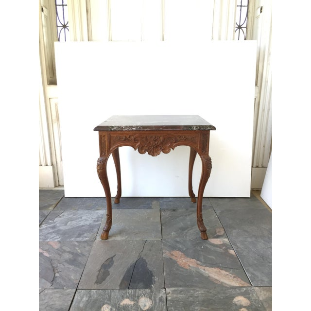 French Regency Style Marble Top Side Table - Image 5 of 5