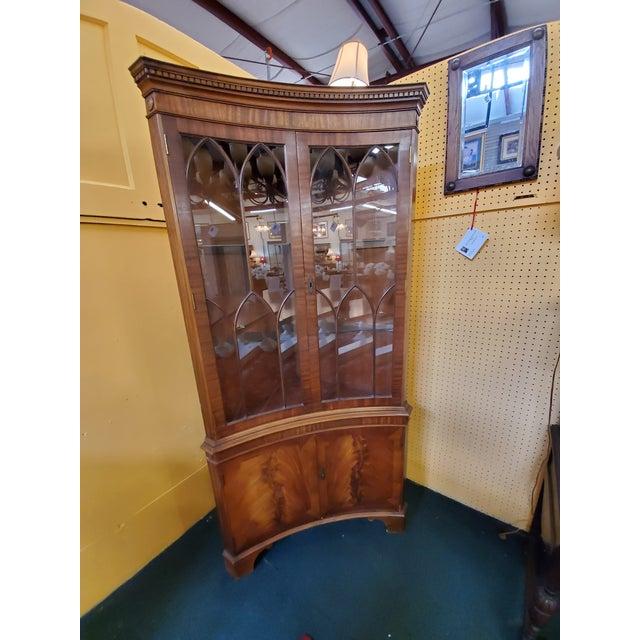 Vintage Mahogany Corner Cabinet For Sale - Image 13 of 13