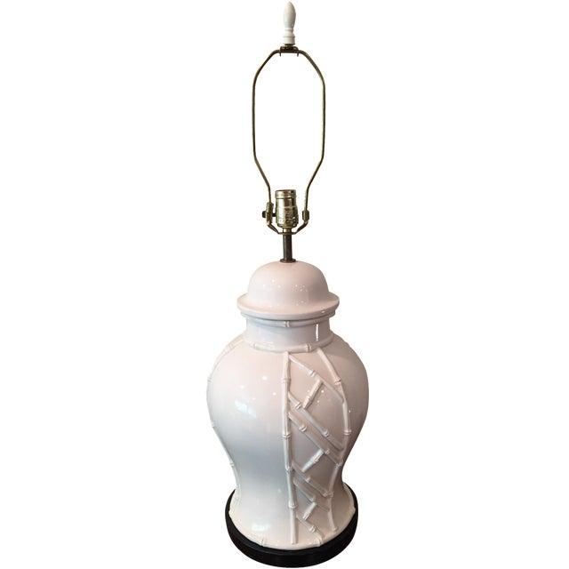 White Bamboo Lamp - Image 1 of 7