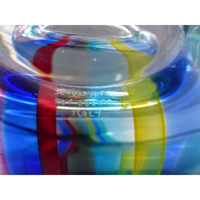 Offered for sale is a spectacular 1970s Seguso Murano centerpiece bowl signed Seguso A.V. for Oggetti, Italy. The...