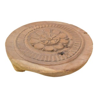 Alana Nepalese Carved Lotus Chakla Stand For Sale