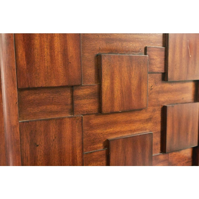 Brown Early 20th Century American Mid-Century Mahogany Nightstands-a Pair For Sale - Image 8 of 9