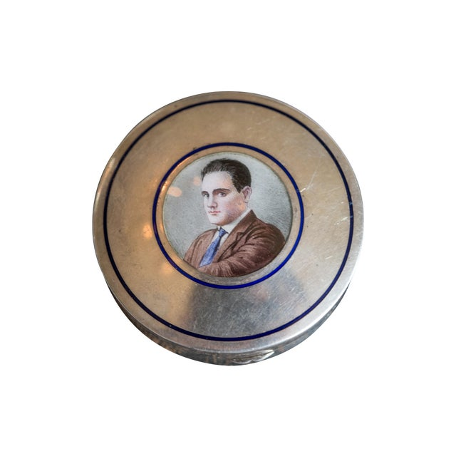 Antique Italian Silver Male Portrait Snuff Box - Image 1 of 6