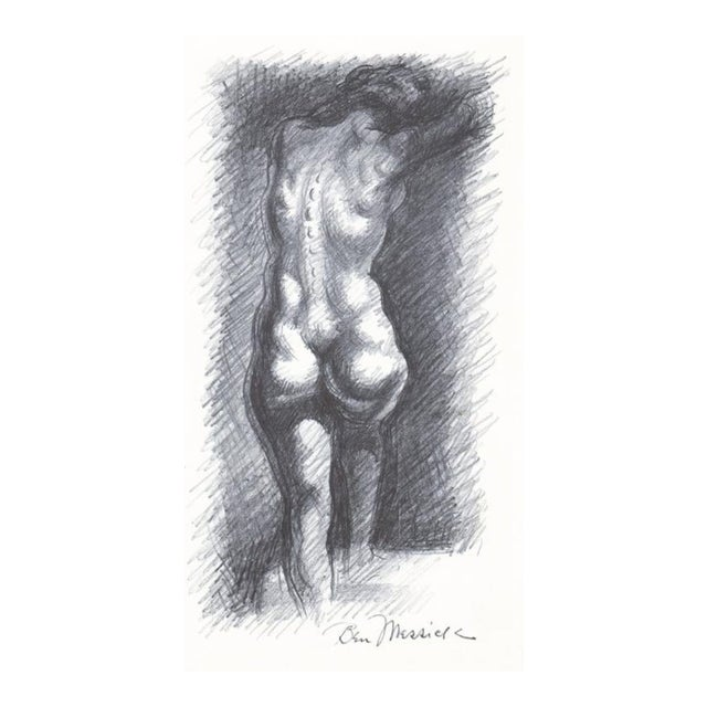 1930s Ben Messick Female Nude Lithograph W P a Style For Sale