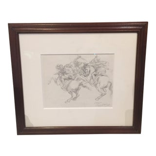 """The Battle of Anghiar"" Pencil Sketch For Sale"