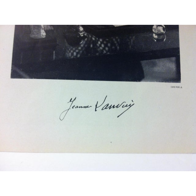 """French 1946 """"Jeanne Lanvin"""" Art Et Style French Print For Sale - Image 3 of 4"""