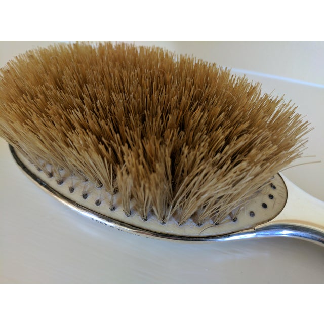 Metal Gorham Sterling Silver Monogrammed Hairbrush For Sale - Image 7 of 8
