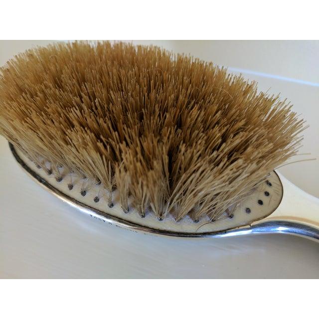 Gorham Sterling Silver Monogrammed Hairbrush - Image 7 of 8