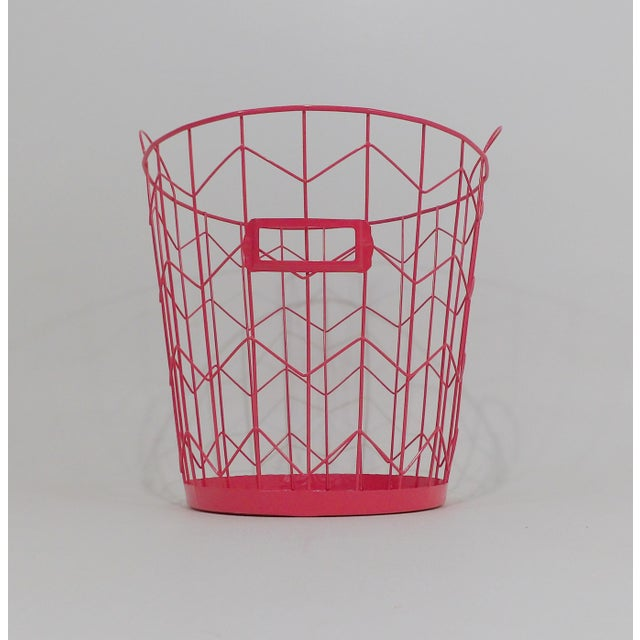 Stunning pop of color for any mid century modern home. Adorable vintage garbage can painted a fresh Red color. Perfect for...
