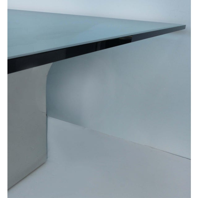 Sally Sirkin Lewis for J. Robert Scott Stainless Steel and Glass Dining Table For Sale - Image 10 of 12