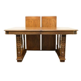 20th Century Spanish Lane Furniture Revival Double Pedestal Dining Table For Sale