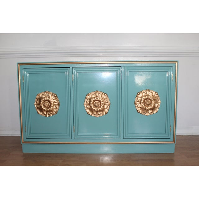Hollywood Regency Lacquered Credenza or Sideboard For Sale - Image 11 of 11