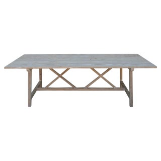 Farm or Harvest Table in Vintage Pine, Custom Made by Petersen Antiques For Sale