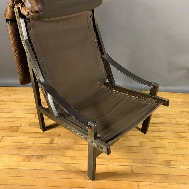 """Torbjørn Afdal """"Hunter"""" Chair & Ottoman, Bruskbo Norway 1960s For Sale - Image 9 of 10"""