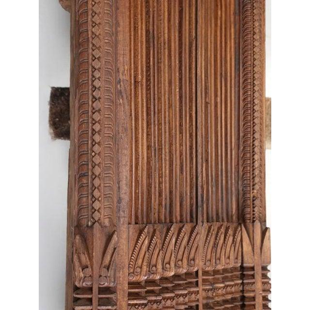 Antique Teak Carved Wood Door Frame For Sale - Image 12 of 12