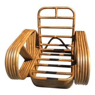 Vintage Mid Century Frankl Design Pretzel Rattan Chair For Sale