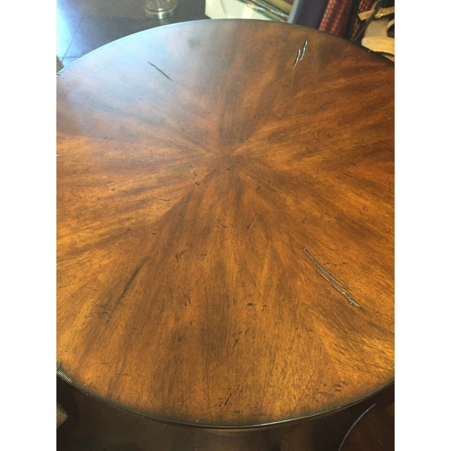2010s Traditional Style Round Lamp Table For Sale - Image 5 of 6