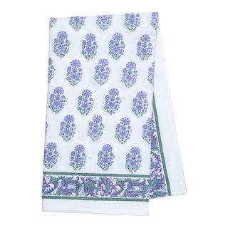 Riya Tablecloth, 8-seat table - Lavendar & Blue For Sale