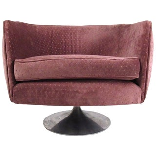 Mid-Century Modern Tulip Swivel Chair After Jeffery Bernett For Sale