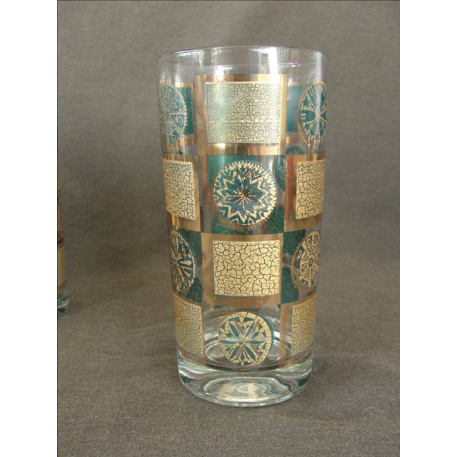 Mid-Century Tumblers With Rack - Set of 9 - Image 7 of 10