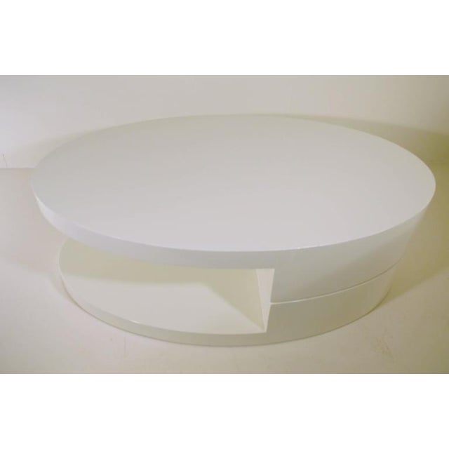 Rotating Coffee Table in the Manner of Gabriella Crespi For Sale - Image 4 of 9
