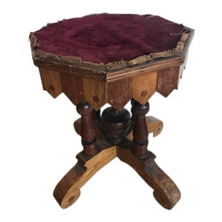 19th Century Victorian Table with Velvet Top