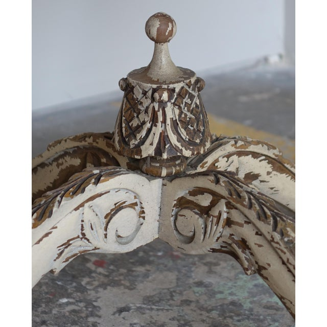 French Carved & Painted Stone Top Table - Image 7 of 10