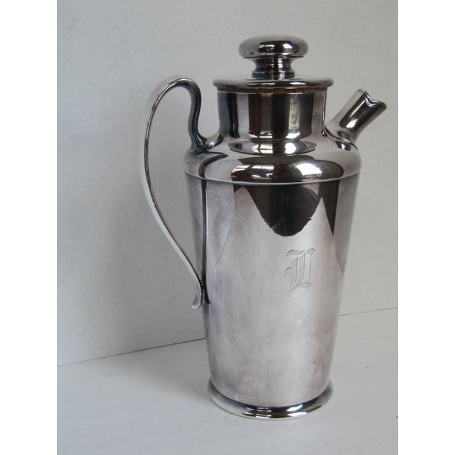 """Art Deco Drink Pitcher with Initial """"D"""" For Sale - Image 4 of 11"""