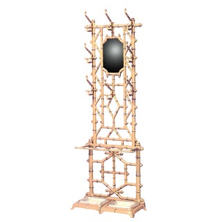 French Victorian Wrought Iron Faux Bamboo Hatrack or Umbrella Stand For Sale
