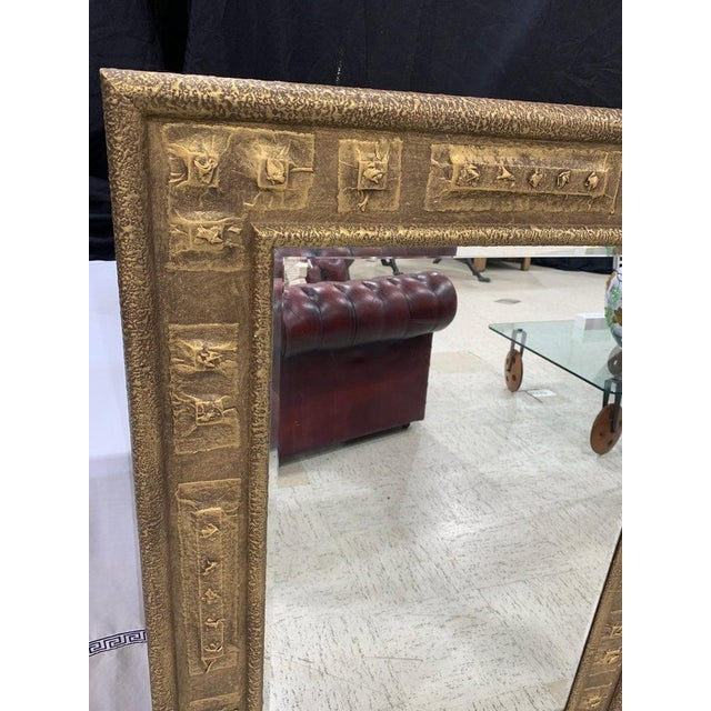 Brutalist Gilt Brutalist Mirror, by Harris Strong For Sale - Image 3 of 5