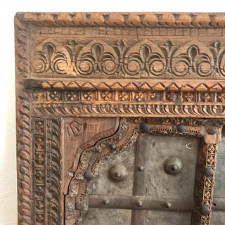 1820s Antique Indian Hand Carved Wood Window Door or Coffee Table Top Salvaged From Fortress India Preview