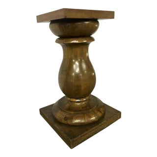 Awesome Solid Neo Classic Wood Pedestal For Sale