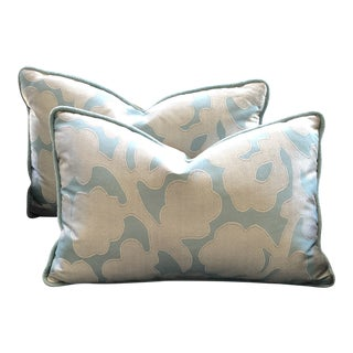 Contemporary Custom Pillows - A Pair For Sale