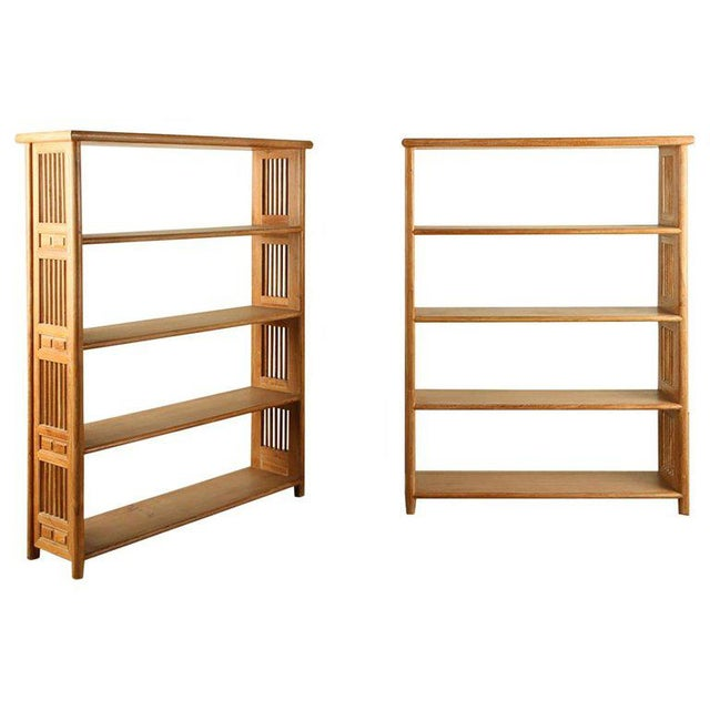 Early 21st Century Secessionist Cerused Oak Bookcases - a Pair For Sale - Image 5 of 5