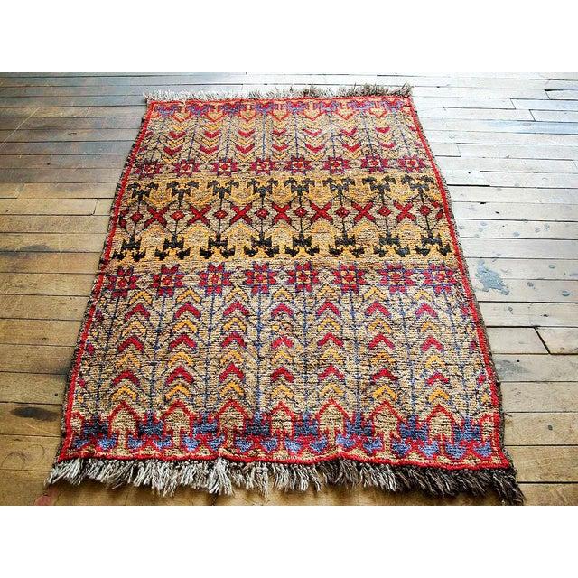 Vintage Brown Persian Tribal Rug - 2′8″ × 3′5″ - Image 2 of 6