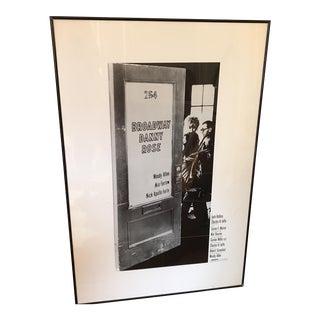 Vintage 1984 Woody Allen Print