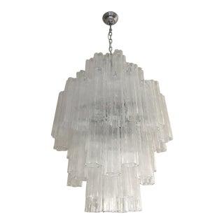 "Italian Double Sputnik Murano Glass ""Tronchi"" Chandelier For Sale"