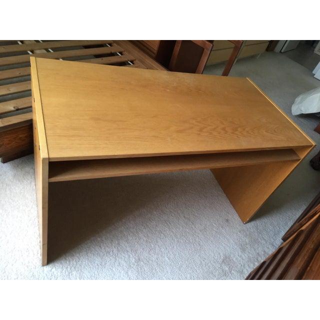Danish Modern Mid-Century Teak & White Two-Drawer Desk For Sale - Image 4 of 13