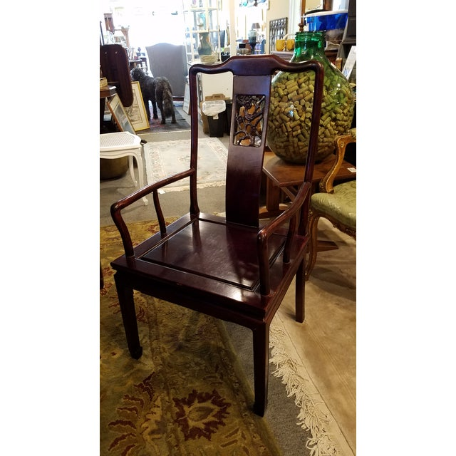 Chinese Hand Carved Rosewood Dining Set for Eight - Image 4 of 11