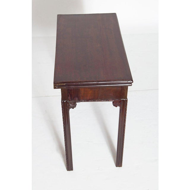 18th Century George III Mahogany Concertina Action Card Table For Sale - Image 4 of 13