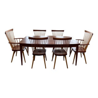 Thos. Moser Boat Top Table and Eastward Chairs For Sale