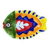 Image of DeSimone Italy Pottery Fish Platter For Sale