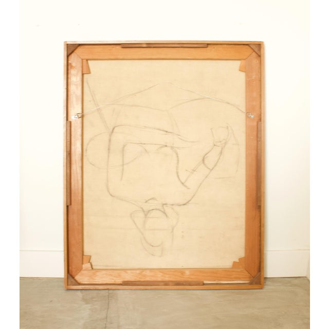 1930s French Seated Nude Painting, Framed For Sale - Image 4 of 5