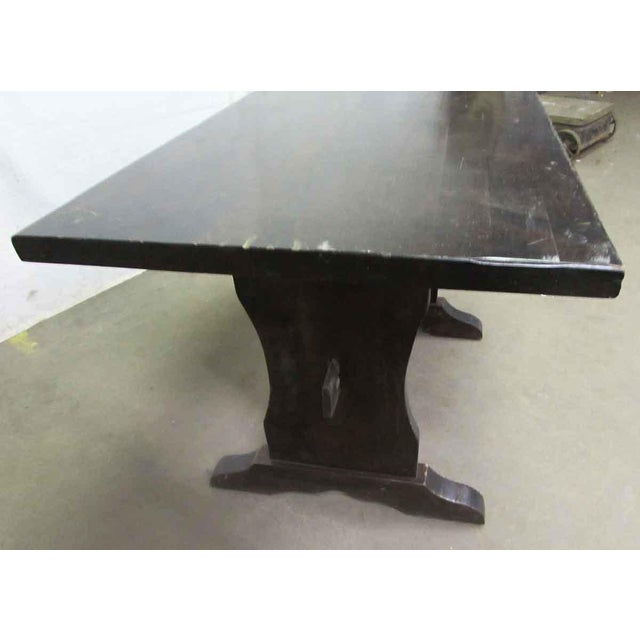 Dark Wood Trestle Table For Sale - Image 4 of 10