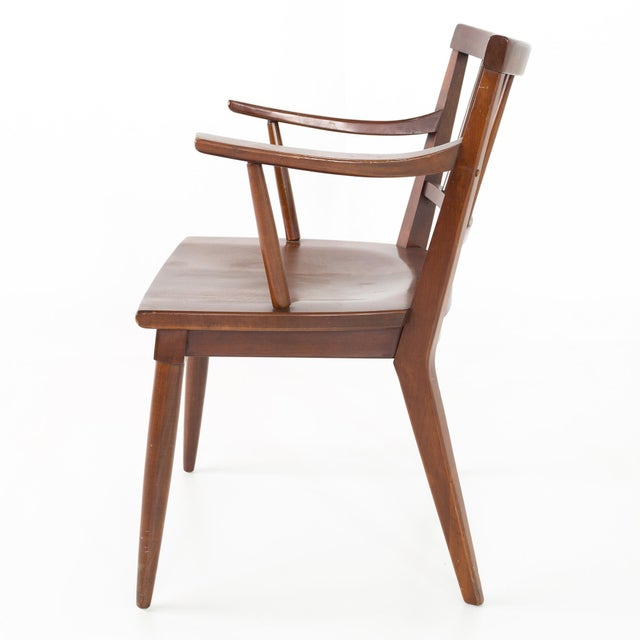 Brown Mid Century Paul McCobb Style Cherry Dining Chairs - Set of 8 For Sale - Image 8 of 13
