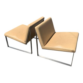 Modern Fabien Baron for Bernhardt Design Contemporary B.2 Chairs- A Pair For Sale