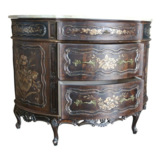 French Hand Decorated Commode For Sale