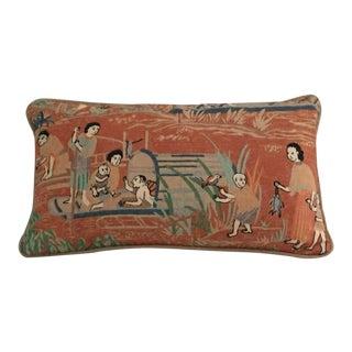 Thibaut Fishing Village Lumbar Pillow For Sale