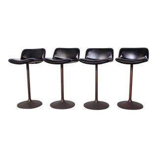 Set of Four Caribe Barstools by Ilmari Tapiovaara For Sale